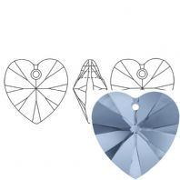 Denim Blue 6228 Swarovski Crystal Heart Pendant 18mm PK1